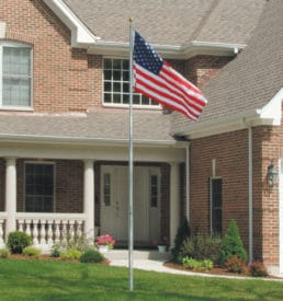 Telescoping Flag Pole with US Flag
