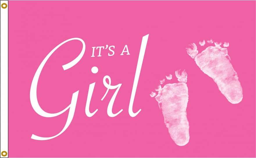 It's A Girl Flag For Sale | Buy It's A Girl Flag Online