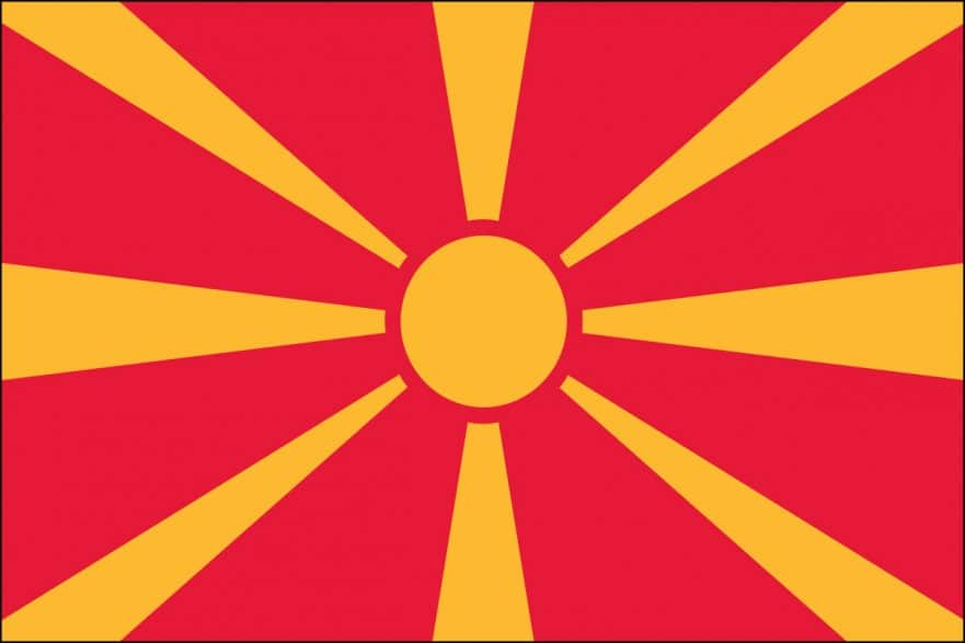 Republic Of Macedonia Flag For Sale | Buy Republic Of Macedonia Flag ...