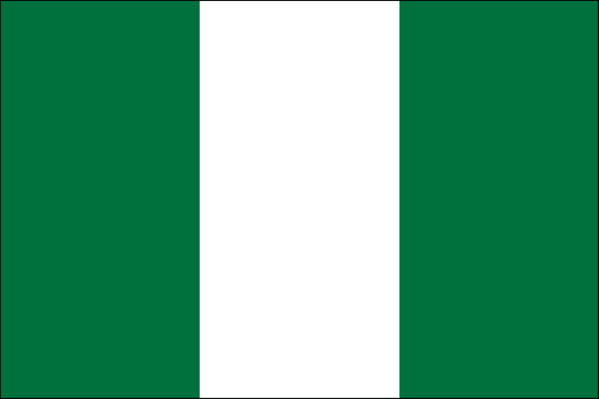 Nigeria Flag Coloring Pages Learny Kids