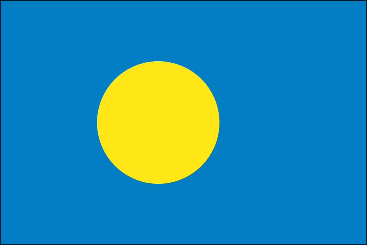 Palau Flag For Sale | Buy Palau Flag Online