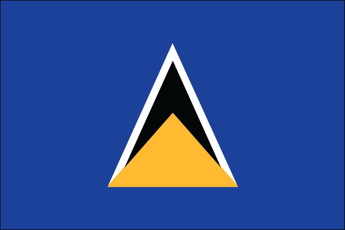 St Lucia Flag For Sale Buy St Lucia Flag Online