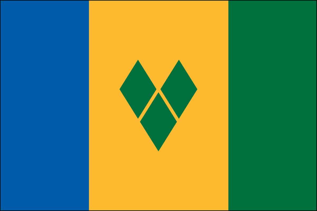 House Indoor St Vincent Amp Renadines Flag For Sale Buy St Vincent