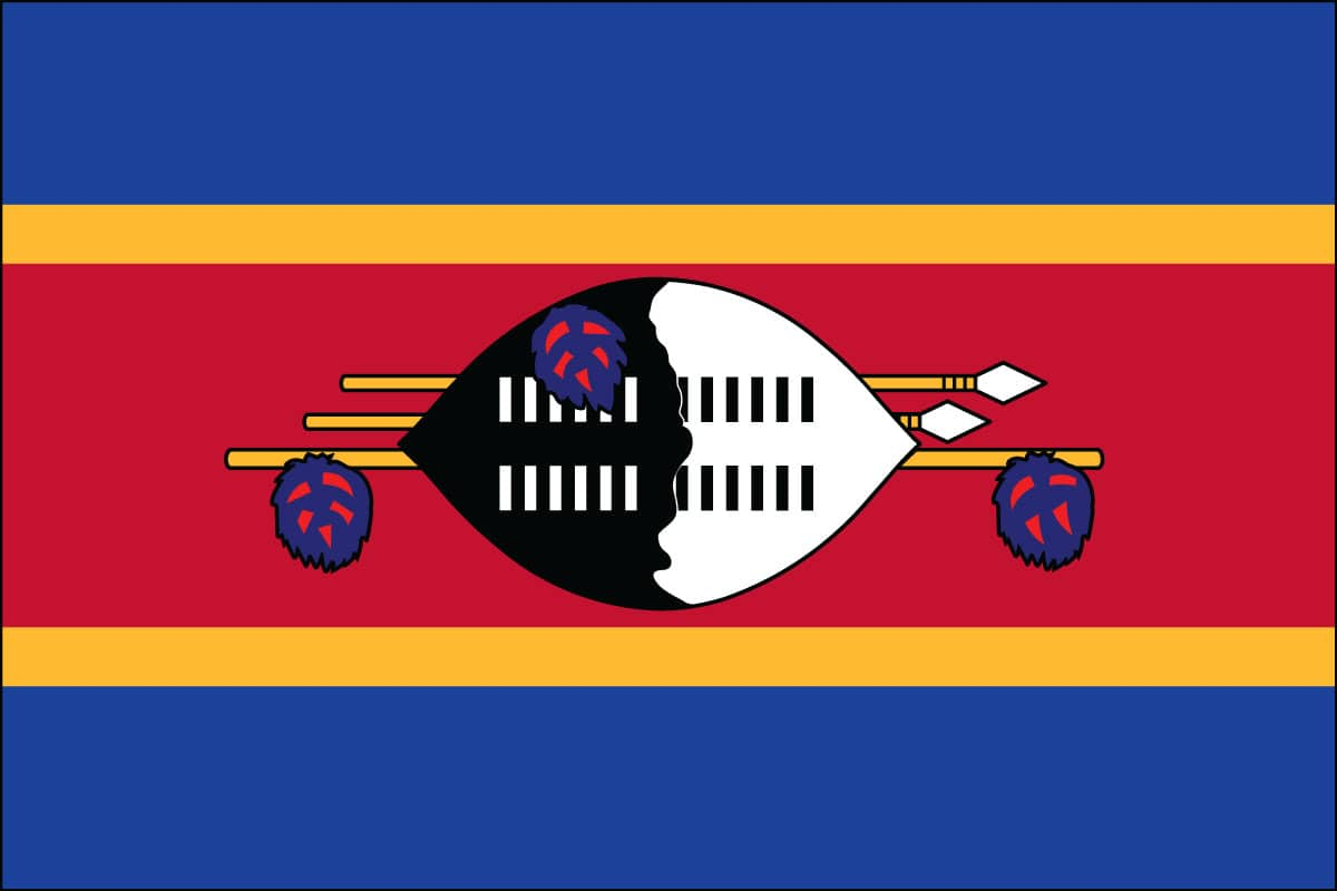 Best Drapes Swaziland Flag For Sale Buy Swaziland Flag Online